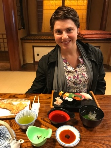 Kelly ordered a sushi and tempura combo, and her goal was to eat everything (remember she's not the most adventurous eater).